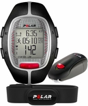 Polar RS300X SD Running Computer Heart Rate Monitor with S1 Foot Pod Black 90036622