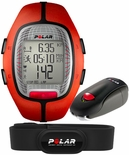 Polar RS300X SD Running Computer Heart Rate Monitor with Foot Pod Orange 90036631
