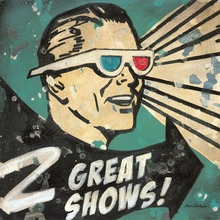 2 Great Shows 3D Glasses Canvas Wall Art
