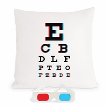 3-D Eye Chart Pillow
