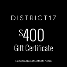 _$400.00 Gift Certificate