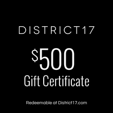 _$500.00 Gift Certificate