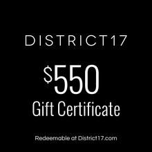 _$550.00 Gift Certificate