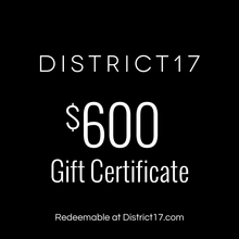 _$600.00 Gift Certificate