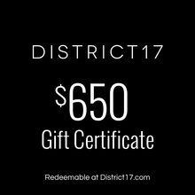 _$650.00 Gift Certificate