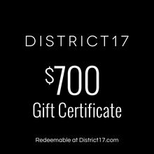 _$700.00 Gift Certificate