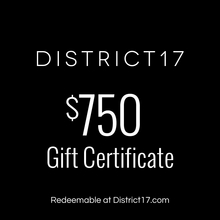 _$750.00 Gift Certificate