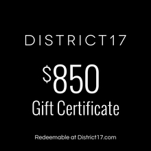 _$850.00 Gift Certificate