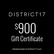 _$900.00 Gift Certificate