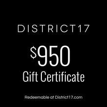 _$950.00 Gift Certificate