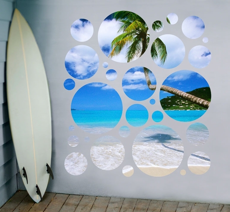 A day in paradise portal wall stickers 4