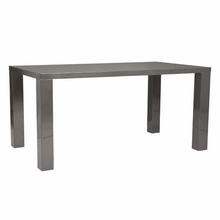 Abby Dining Table in Gray Lacquer