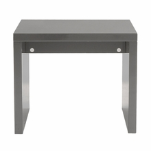 Abby Side Table in Gray Lacquer