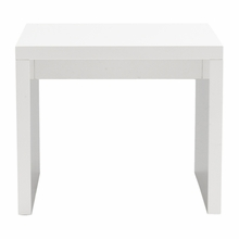 Abby Side Table in White Lacquer