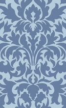 Abigail Damask Rug in Sky Blue