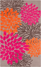 Abigail Floral Burst Rug in Hot Pink