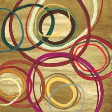 Abstract Circles II Canvas Wall Art
