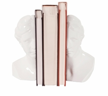 Abstract Male and Female in Glossy White Bookends