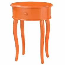 Accent Table In Orange With Drawer