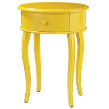 Accent Table In Yellow With Drawer