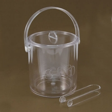 Acrylic Engraved Monogram Ice Bucket with Tongs