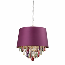 Adaire Purple Drum Pendant Light With Crystals