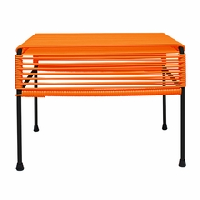 Adam Ottoman - Orange Weave