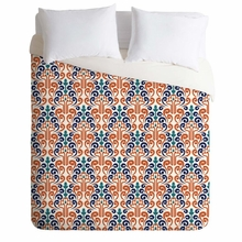 Adobe Damask Lightweight Duvet Cover