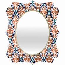 Adobe Damask Quatrefoil Mirror