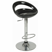 Agnes Bar and Counter Stool in Black and Chrome