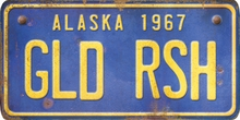 Alaska Custom License Plate Art