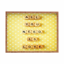 All You Need is Love Rectangle Tray