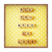 All You Need is Love Square Tray