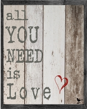 All You Need is Love Vintage Framed Art Print
