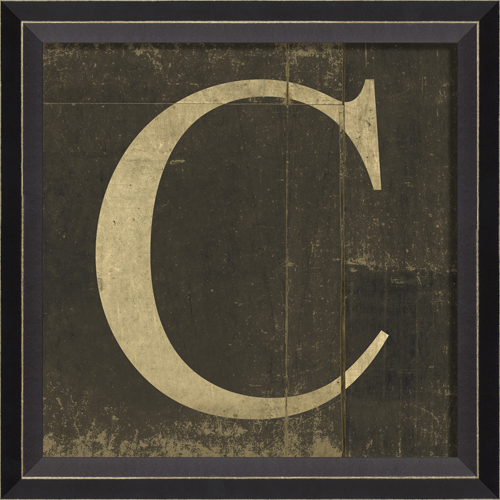 Letter C For Wall District17 Alphabet Letter C Framed Wall Art Framed Art
