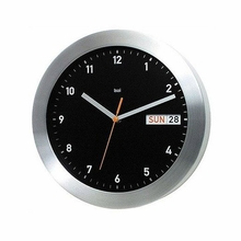 Aluminum Date and Day Wall Clock