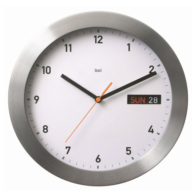 district17 aluminum date and day wall clock clocks