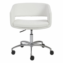 Amelia Office Chair in White and Chrome