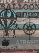 American Byways Hot Air Balloon Canvas wall Art