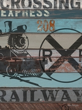American Byways Train Canvas wall Art