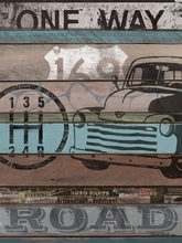 American Byways Truck Canvas wall Art