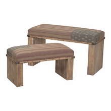 Americana Wooden Bench Set