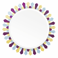 Amethyst and Amber Large Petal Mirror