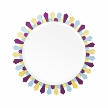 Amethyst and Amber Petal Mirror