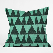 Analogous Shapes 1 Throw Pillow