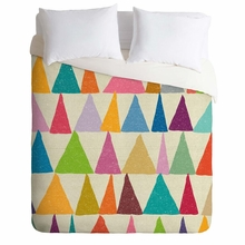 Analogous Shapes in Bloom Lightweight Duvet Cover