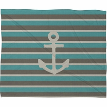 Anchor 1 Fleece Throw Blanket