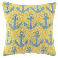 Anchor Attack Hook Pillow in Yellow and Blue