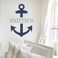 District17: Anchor Name Personalized Wall Decal: Wall Decals,Personalized  Art Part 79