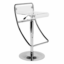 Angelita Bar Stool in Clear Acrylic and Chrome